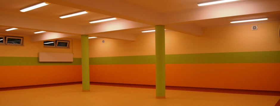 Jedyne przedszkole w okolicy  z  salą do zajęć z wychowania fizycznego i gimnastyki korekcyjnej